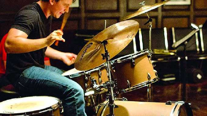 WHIP IT UP: Miles Teller (left) and JK Simmons in a scene from the movie Whiplash. Veteran actor Simmons plays an abusive,
