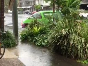 Heavy rain and flash flooding at Byron Bay