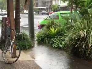 Heavy rain and flash flooding at Byron Bay
