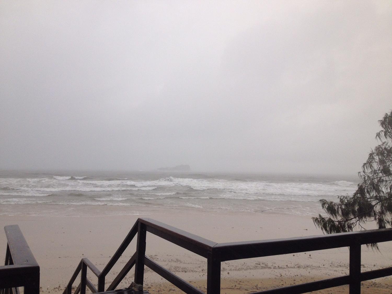 Mudjiimba Beach pre-high tide.