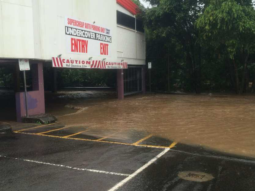 Woolworths Nambour car park floods
