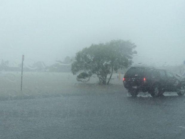 Bradman Avenue starts to flood