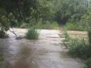 Uki floodwaters