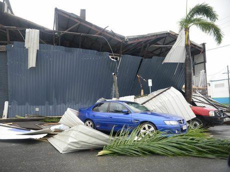 Damage in the Rockhampton CBD area caused by Tropical Cyclone Marcia. Photo Allan Reinikka / The Morning Bulletin