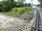 Water flowing through the causeway on Junction Road, Karalee. Photo: Kate Czerny / The Queensland Times