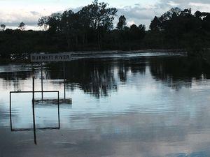Minor flood levels are expected at Bundaberg during Sunday