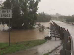 Kidd Bridge goes under as heavy rain hits