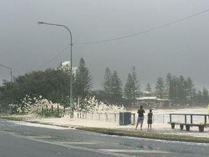 sea foam at Alexandra Headland