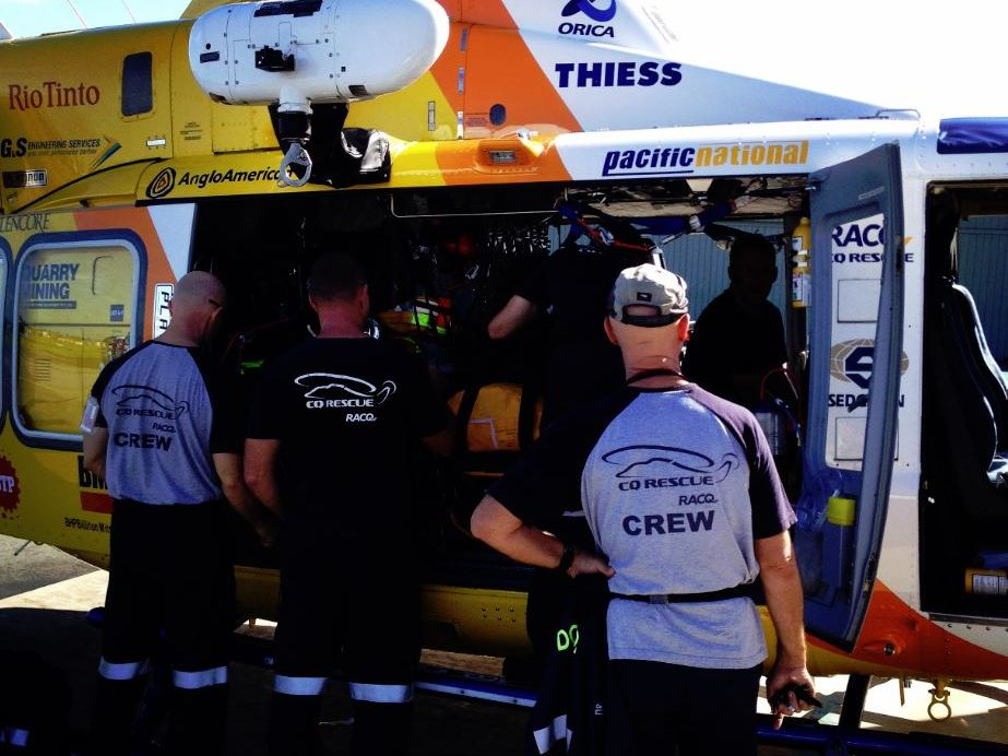 RACQ-CQ Rescue left for Rockhampton at 8am today with two crews from the Mackay Base to assist with the relief effort.