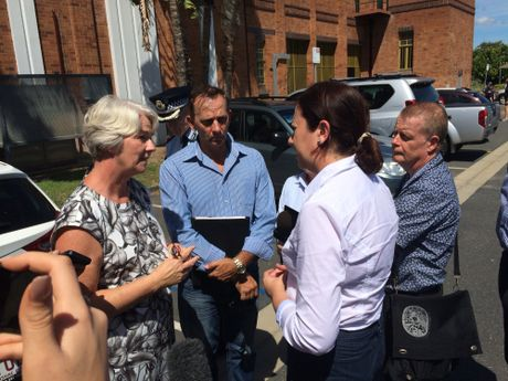 Queensland Premier Annastacia Palaszczuk is in Rockhampton being brief by the Local Disaster Management Group