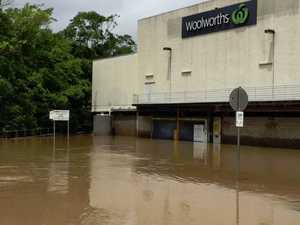 Woolworths Nambour carpark flooded