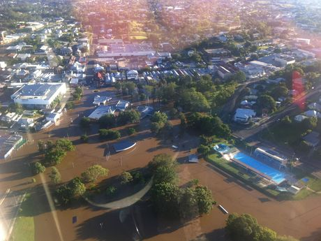 The Sunshine Coast RACQ CareFlight Rescue crew has taken these photographs while on a mission to airlift a patient from Gympie Hospital this morning.