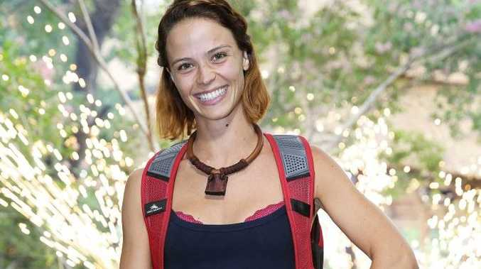 Lauren Brant after her elimination from I'm A Celebrity... Get Me Out of Here!