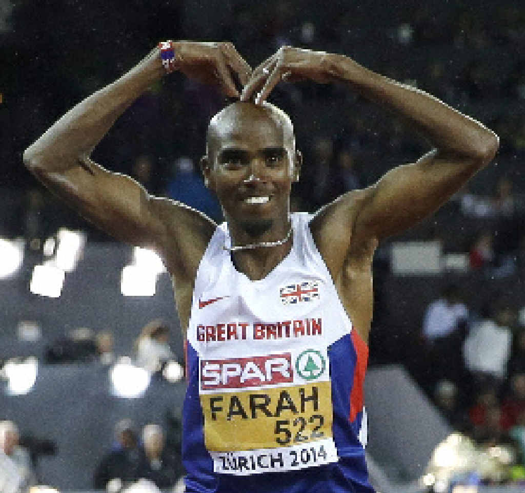 TOO GOOD: Mo Farah celebrates after winning gold in the men's 10,000m at the European championships last year.