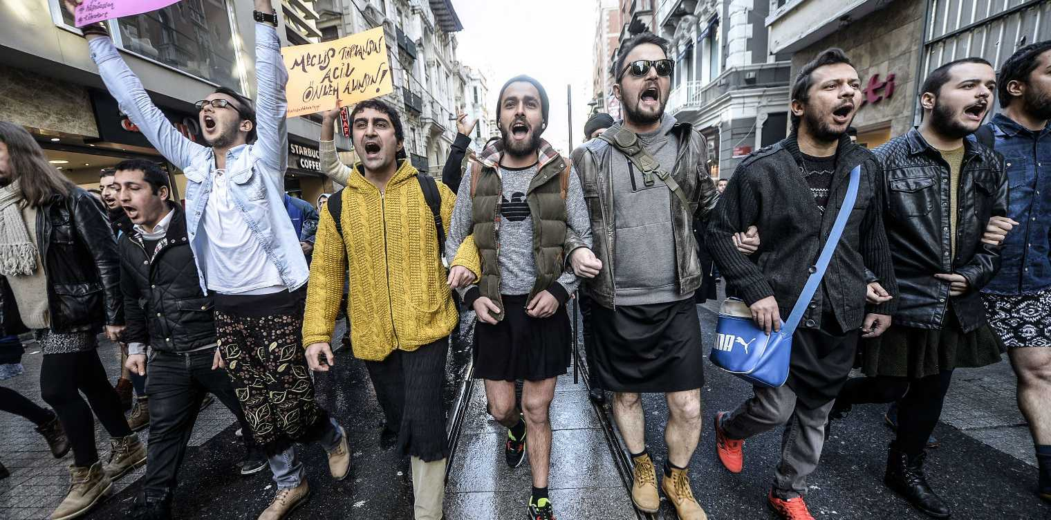 Men in Turkey are joining the fight against slut-shaming and misogyny.