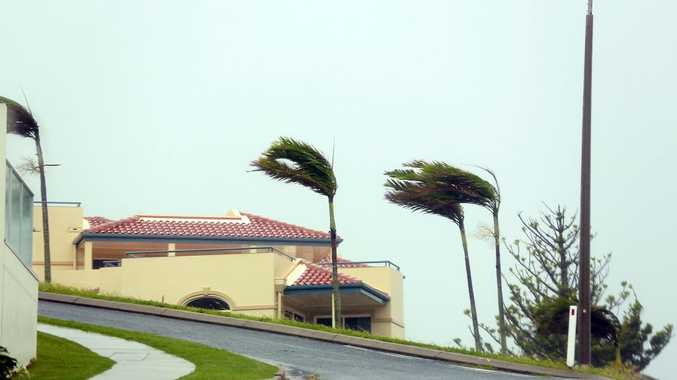 Strong winds hit the coastal town of Yeppoon in north Queensland.