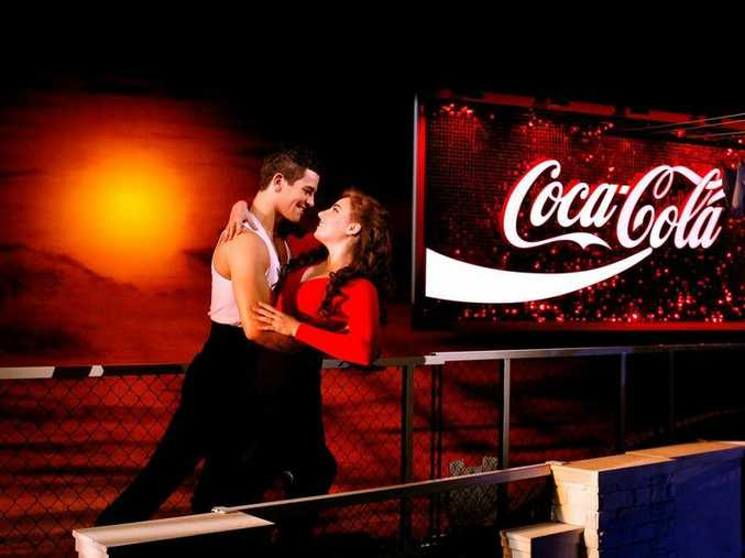 Thomas Lacey and Phoebe Panaretos star as Scott and Fran in Strictly Ballroom The Musical.