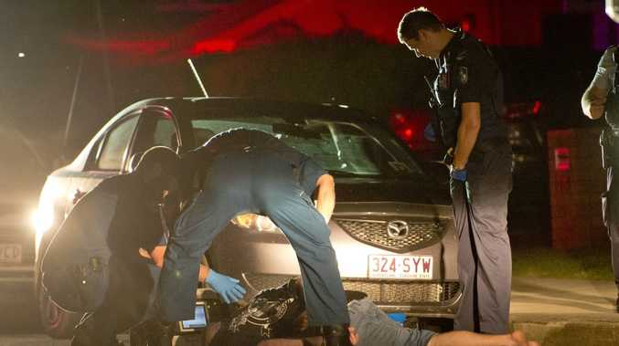 A man is taken into custody after being tasered by police in New Auckland, Gladstone.