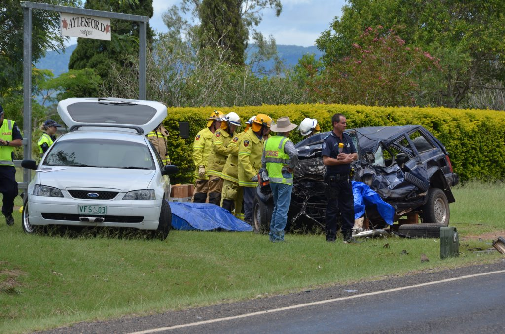 FATAL CRASH: A head on crash between a truck and 4x4 resulted in one fatality, minor injuries. Photo Keagan Elder / South Burnett Times