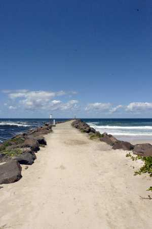 The Brunswick Heads breakwall. Photo The Northern Star Archives
