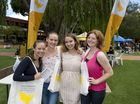 Getting a taste of uni life are (from left) Jenna Southee, Stacie Broom, Alexandra Steward and Jesscia Heath.