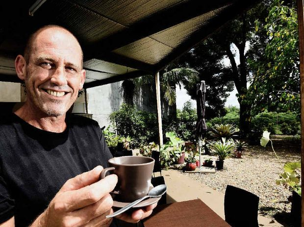LEISURELY EXPERIENCE: Duck Pond Expresso Bar owner Will Atkinson is happy to offer a courtyard coffee experience in South Lismore.