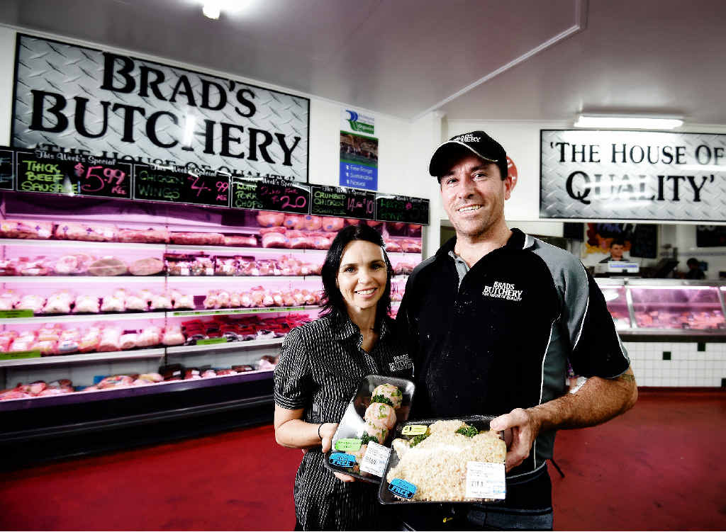 A CUT ABOVE: Brad's Butchery co-owners Brad and Tanya Holloway are happy to offer coeliac safe meat products.