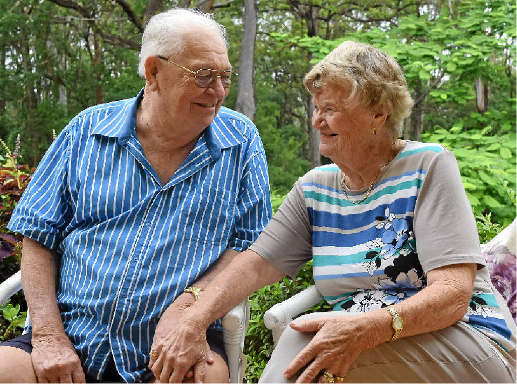 DIAMOND ANNIVERSARY: Buderim's John and Pat Hawes will celebrate their 60th wedding anniversary in Sydney.