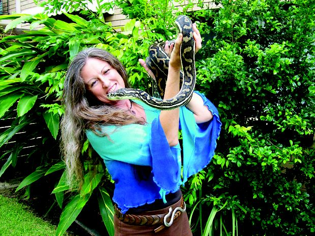 Jill and Zues the snake.