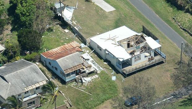 Property in Keppel Sands damaged by cyclone Marcia. Photo Allan Reinikka / The Morning Bulletin