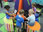 Local children are loving the new interactive and educational rockets in the Hervey Bay library Photo Eliza Wheeler / Fraser Coast Chronicle
