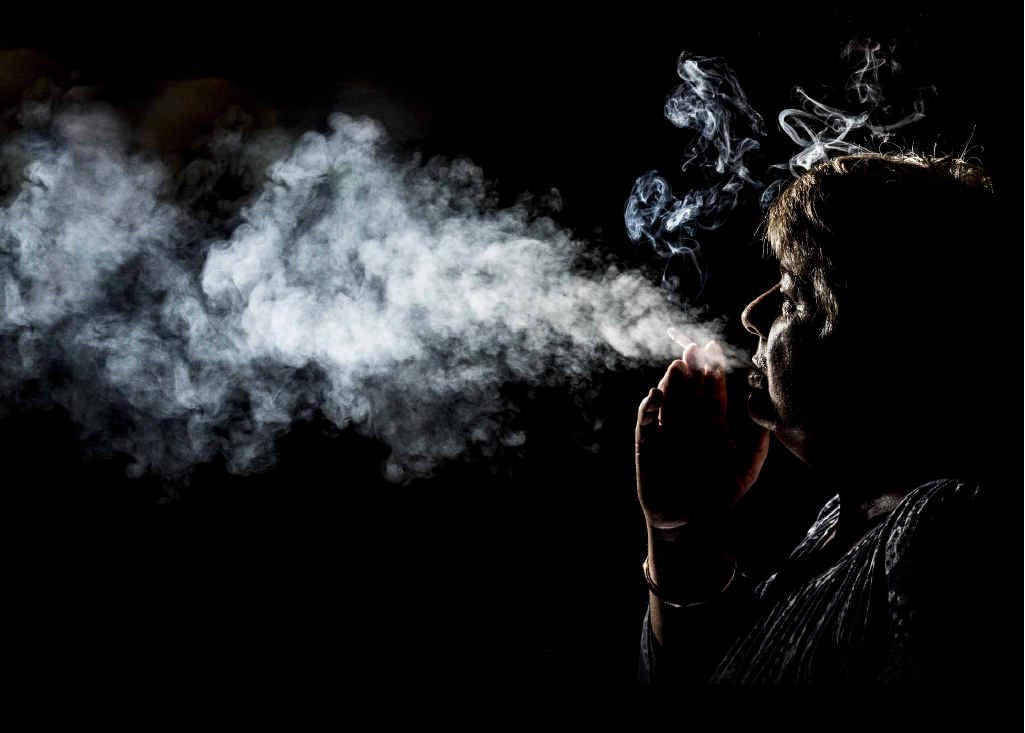 Christine Goss, of Grafton, talks about her smoking habit. PHOTO: ADAM HOURIGAN
