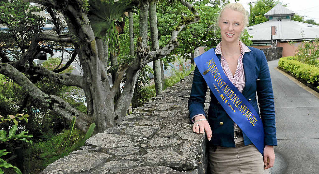 Lismore Showgirl Ellie Stephens will head to the Easter show next month, representing zone 1 in The Land Sydney Royal Showgirl competition.