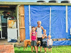 House blew down? Not a disaster, Mt Larcom family told