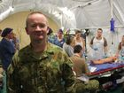 Captain Adam Scholler is working at the Role 2E Field Hospital during Talisman Saber. Photo Kathleen Calderwood / The Morning Bulletin