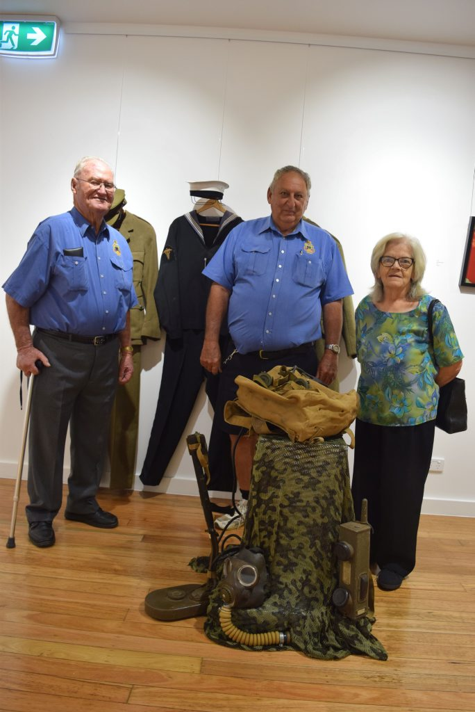 Members of the Dalby RSL sub-branch; life vice-president Stan Hutchins, president Graham Coles and secretary Gayle Clerke.
