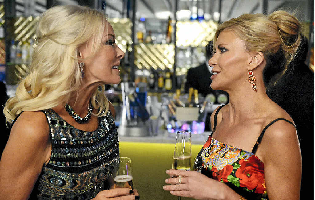 THEY'RE BACK: Former Gympie woman Janet Roach, left, and Gamble Breaux in a scene from the TV series The Real Housewives of Melbourne.