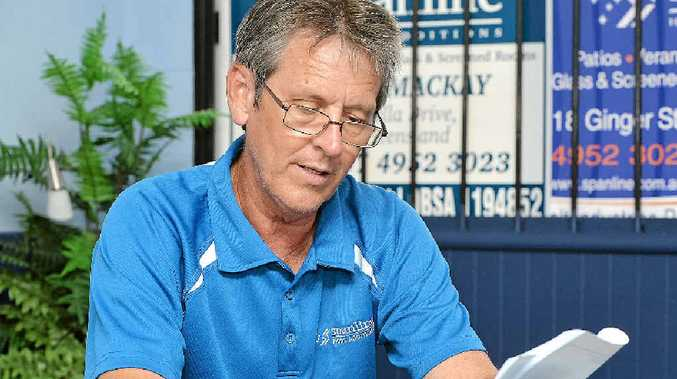 Chris Holt, of Spanline Mackay, is warning people about a scam that also targeted another Mackay businessman.