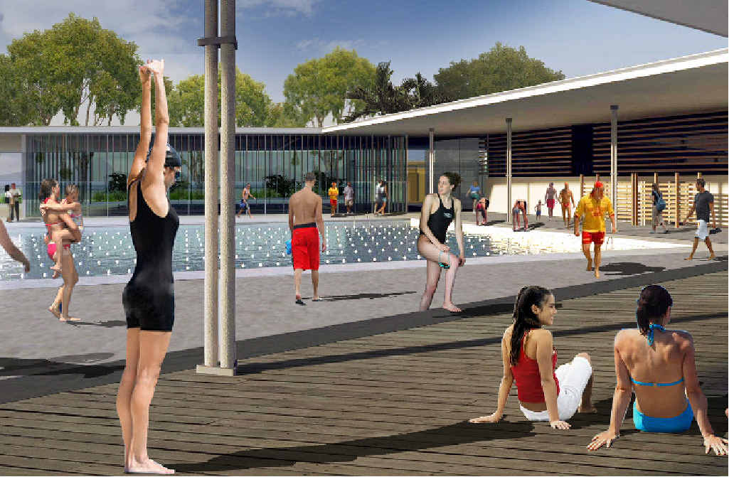 An artist's impression of the pool which could be part of CQUniversity's Sports Precinct.