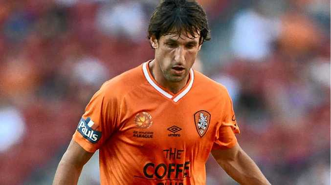 Thomas Broich with the Brisbane Roar