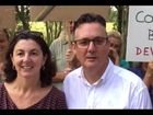 Ballina Labor candidate Paul Spooner, with Cate Coorey of the Byron Residents Group, announces Labor will scrap the controversial West Byron development if Mr Spooner is elected and Labor wins government at next month's poll.