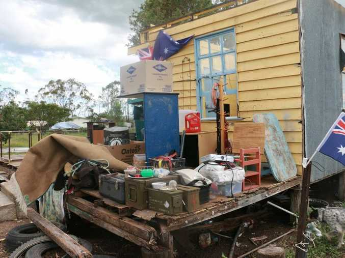 Karen Johnson's home in Marmor after Cyclone Marcia Photo Christine McKee / The Morning Bulletin