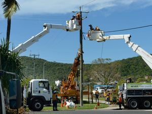 Energex and Ergon crews restore power to Cyclone Marcia area