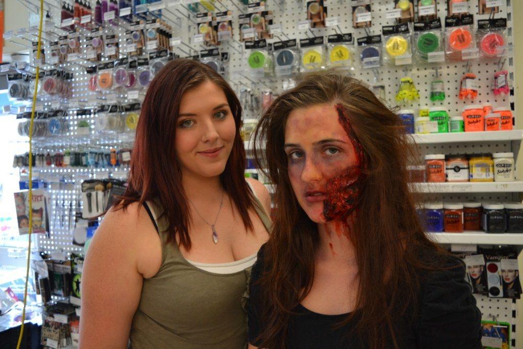 Makeup artist Maddie Linnett (left) and