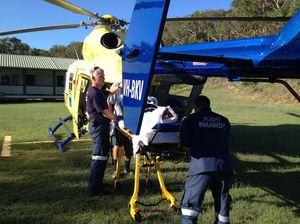 Five foreign tourists airlifted after 4WD rolls on Fraser Is