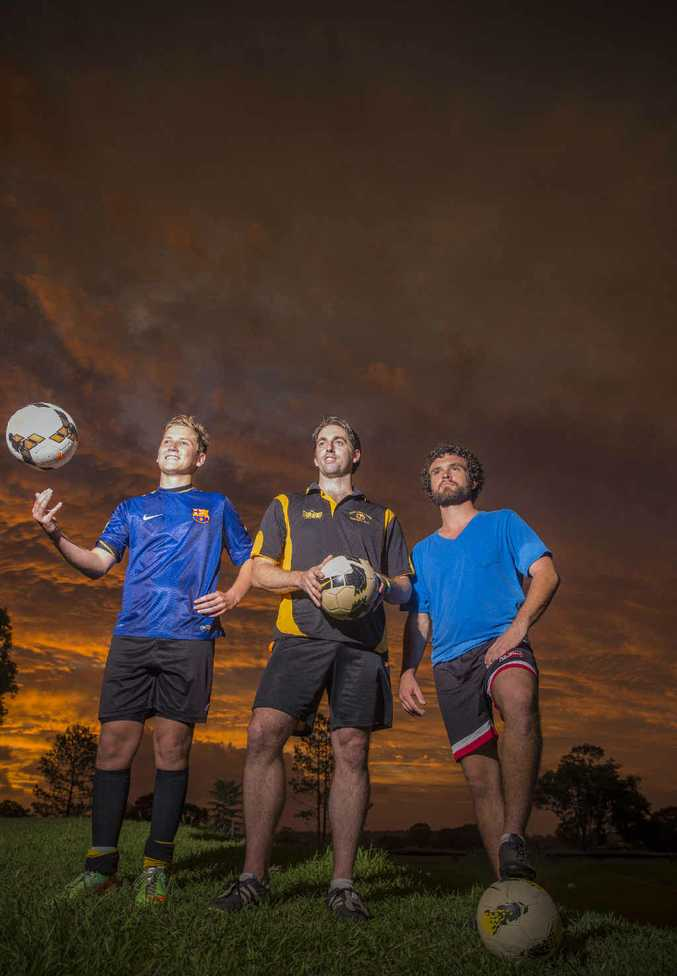 NEW FOCUS: Jesse Powell, James Joyce and Daniel Usher gear up for a season with Westlawn Tigers Football Club.