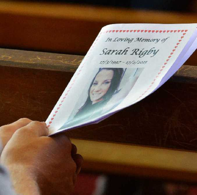 Hundreds gathered at St Patrick's Catholic Church yesterday to say their goodbyes and celebrate Sarah's life.