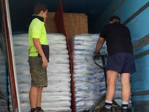 Ice, ice, baby! 50,000 bags of ice make its way to Rocky