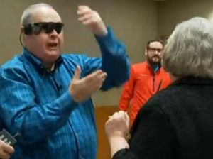 VIDEO: Bionic eye lets man see wife for first time in 10 years