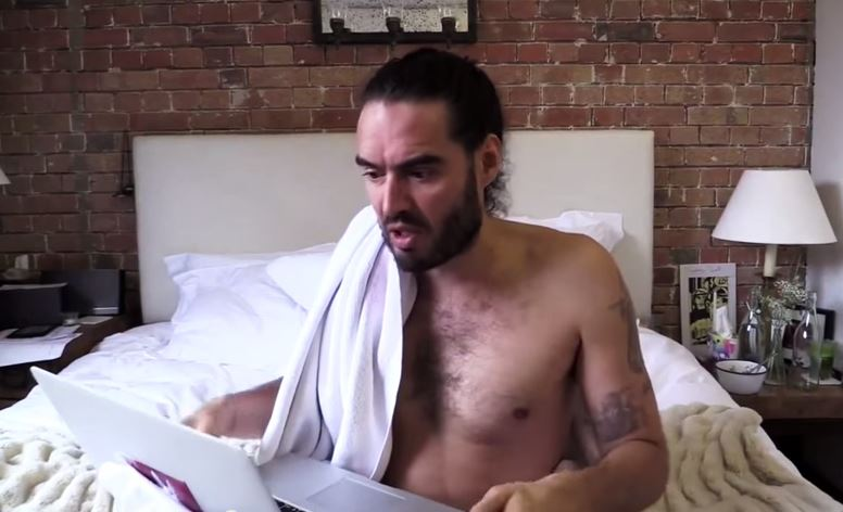 Russell Brand talks about pornography in his latest YouTube clip.